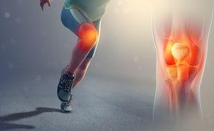 Le genou d'un sportif (illustration).