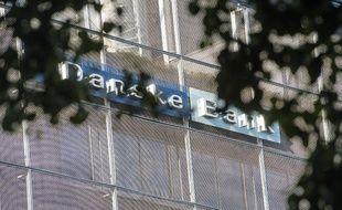 Le logo de la banque danoise Danske Bank au coeur d'une affaire de blanchiment entre 2007 et 2015 d'environ 200 milliards d'euros à travers sa filiale estonienne.