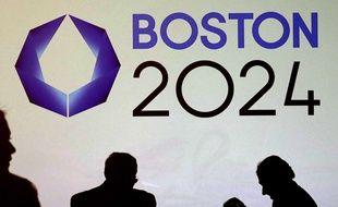 Lors d'une conférence pour la campagne en faveur de la candidature de Boston pour l'organisation des JO 2024, le 21 janvier 2015.