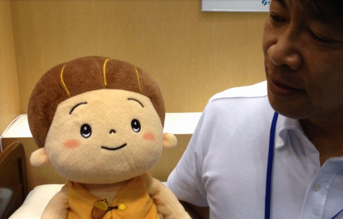 Kabochan, un robot avec qui les personnes âgées peuvent interagir.  – M. CENA/20 MINUTES