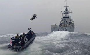 La marine britannique s'équipe de jet-packs