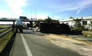 Un accident entre deux véhicules a entraîné la fermeture de l'A64, dans le sens Toulouse-Tarbes, après la sortie 34 de Muret.