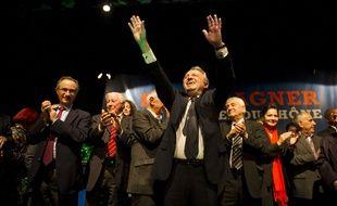 """Jeudi 13 Novembre 2014, Meeting de Jean-Noel Guerini, president du conseil general des Bouches-du-Rhone, annonce  la creation de son nouveau parti politique, intitule """"La Force du 13"""". Pennes-Mirabeau, France 13/11/2014  /AUFFRET_065728/Credit:LILIAN AUFFRET/SIPA/1411140709"""