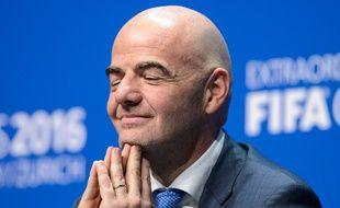Gianni Infantino, le président de la Fifa, le 26 février 2016 à Zurich.