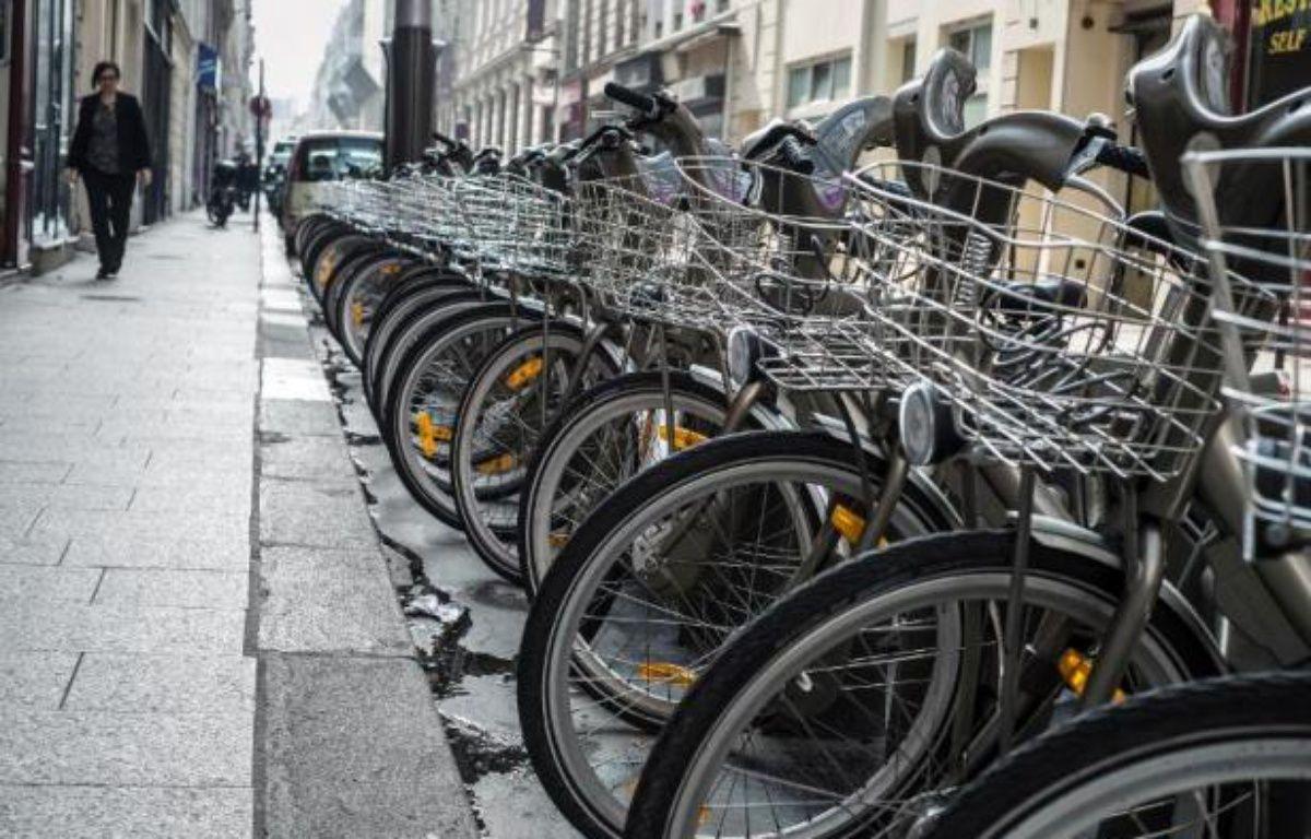 Une station de Vélib à Paris – Jean-Philippe Ksiazek AFP