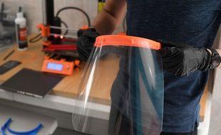 Une visière de protection en 3D fabriquée à Londres, le 1er avril 2020. (illustration)
