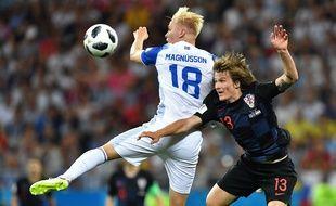 Magnusson los du match contre la Croatie, le 26 juin 2018.