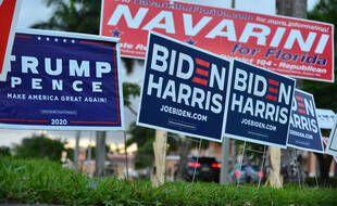 Panneaux de campagne pour l'élection présidentielle américaine 2020.