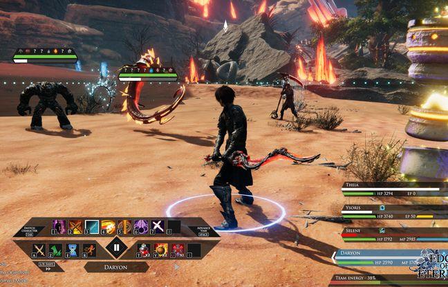 Le jeu Edge of Eternity propose des combats au tour par tour, comme les JRPG classiques, mais disposent aussi de pas mal de nouveautés
