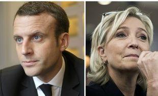 Les candidats Emmanuel Macron et Marine Le Pen.