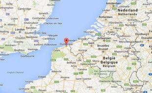 Google map de Dunkerque.