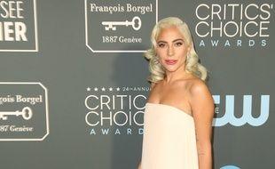 La chanteuse et actrice Lady Gaga, dimanche soir, aux Critics' Choice Awards