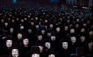 Une image du film «V for Vendetta», repris comme symbole par le groupe de hackers Anonymous.
