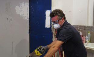 Jean-François Denaiffe est formateur à l'école des métiers de l'habitat et propose lors d'ateliers des conseils pour bricoler en toute sécurité.