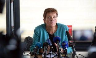 Le Procureur de Bordeaux, Marie-Madeleine Alliot, lors d'une conférence de presse, le 24 novembre 2014 à Bordeaux