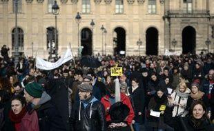 La manifestation jeudi 27 février contre la réforme de l'assurance chômage telle que proposée par le patronat s'est terminée devant le siège du Medef.