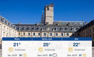 Météo Dijon: Prévisions du jeudi 22 juillet 2021