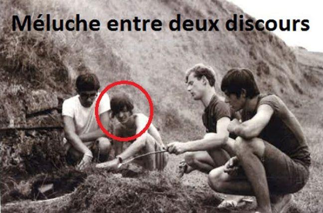 Jean-Luc Mélenchon et ses amis à l'été 68.