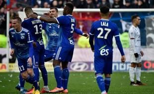 Les joueurs du Racing Club de Strasbourg Alsace.