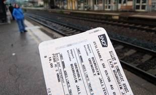 Illustration d'un billet de train SNCF.