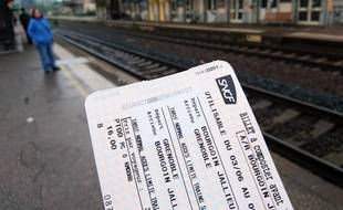 Illustration d'un billet de train SNCF.