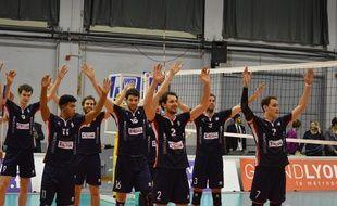 Les joueurs de l'Asul Lyon Volley ont conclu cette saison de Ligue B à la huitième place, comme en 2016-2017.