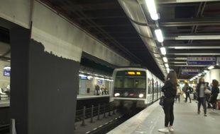 Un RER A à la station Châtelet. (Illustration)
