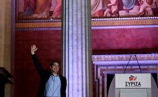 Alexis Tsipras après sa victoire aux élections à Athènes, le 25 janvier 2015.