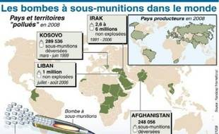 Une centaine de pays vont signer, à partir de ce mercredi à Oslo, un traité d'interdiction totale des bombes à sous-munitions (BASM), des engins particulièrement meurtriers pour les populations civiles.