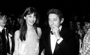 Jane Birkin et Serge Gainsbourg au festival de Cannes en 1974.