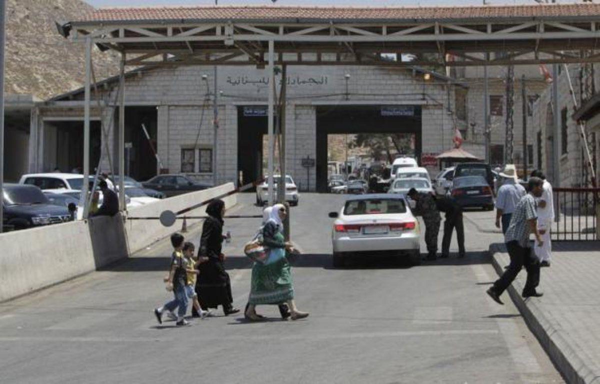 """""""Les trois derniers jours, on les a passés dans un abri"""": Abdel Jaber a fui les bombardements dans son quartier de Midane, à Damas, pour se réfugier au Liban voisin comme des milliers de Syriens. – Joseph Eid afp.com"""