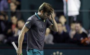 David Goffin a été éliminé par Julien Benneteau dès les 8es de finale du Masters 1000 de Bercy, le 2 novembre 2017.