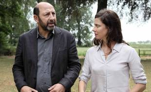Kad Merad (Philippe Rickwaert) et  Anna Mouglalis (Amélie Dorendeu) dans la saison 2 de « Baron Noir ».