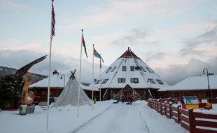 Le centre d'activités principal de la commune de Tysfjord en Laponie le 27 novembre 2017.