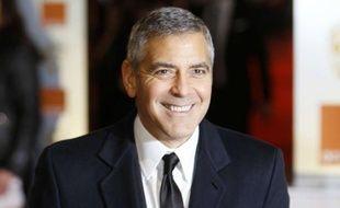 George Clooney aux Bafta 2012, les César britanniques.
