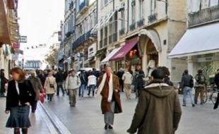 Dans les rues de l'Ecusson, à Montpellier.