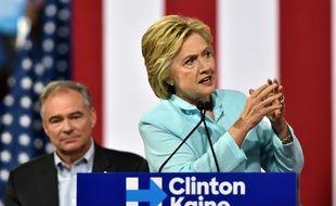 Tim Kaine et Hillary Clinton le 23 juillet 2016 à Miami