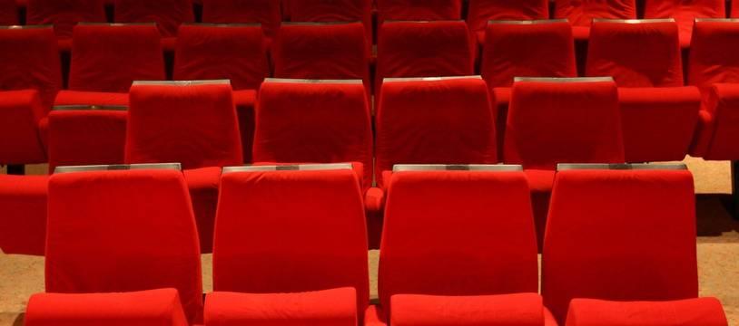 Une salle de cinéma vide (illustration).