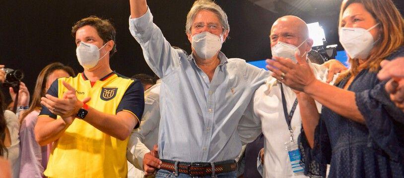Le nouveau président élu d'Equateur, Guillermo Lasso, le AA avril 2021.