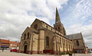 L'église de Bollezeele, dans le Nord, le 18 juillet 2012.