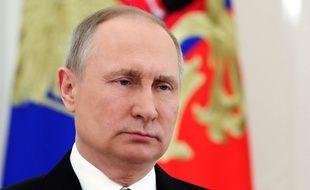 Vladimir Poutine, président russe, le 23 mars 2018.