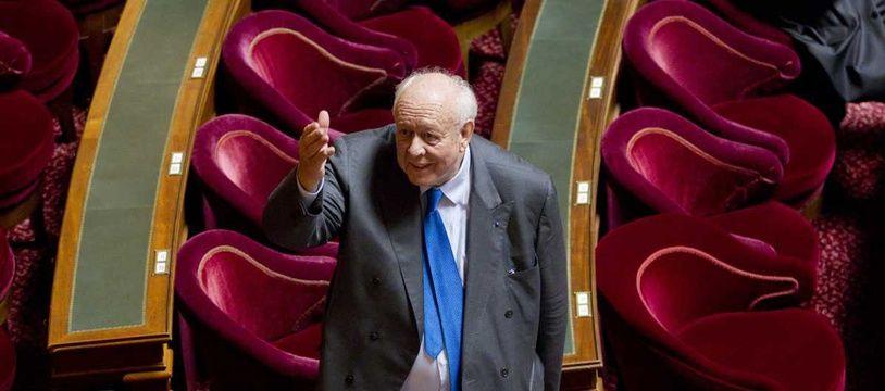 Jean-Claude Gaudin au Sénat en 2013.
