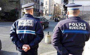 Des policiers municipaux de la ville de Nantes.