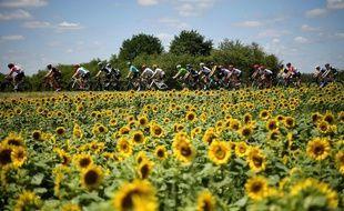 Le peloton lors de la 4e étape du Tour de France 2017.