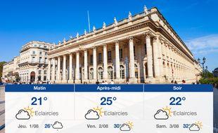 Météo Bordeaux: Prévisions du mercredi 31 juillet 2019