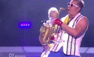 Eurovision: un saxophoniste moldave a retenu l'attention du public en 2010 grâce à son déhanché.