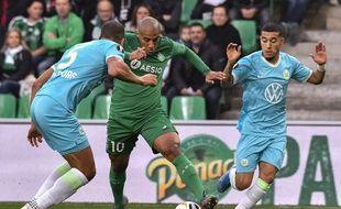 Khazri dans le Chaudron face à Wolfsburg en Ligue Europa.