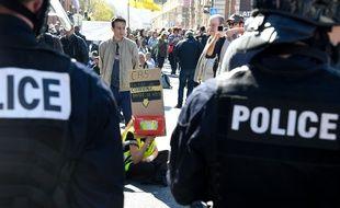 """Le rassemblement des """"gilets jaunes"""" était interdit, samedi, à Nice."""