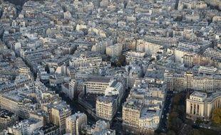 Vue aérienne d'un quartier de Paris