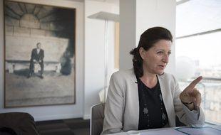 Agnès Buzyn le 17 septembre 2018 dans son bureau à Paris.